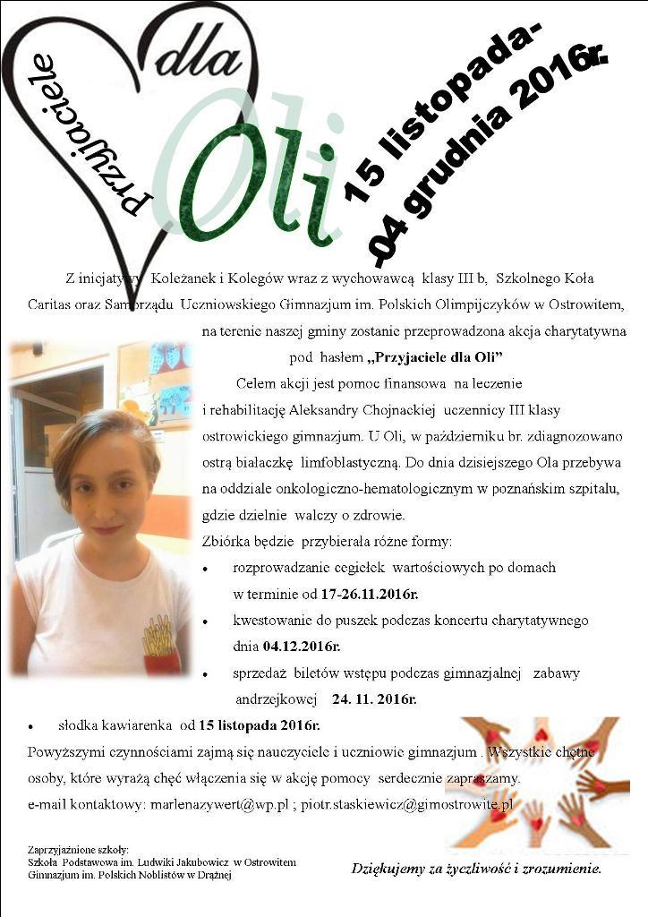 Plakat Ola D Zse Im M Jackowskiego W Słupcy