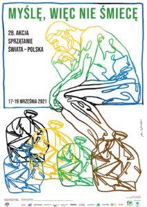 Grafika przedstawia plakat promujący akcję Sprzątanie świata 2021 r.